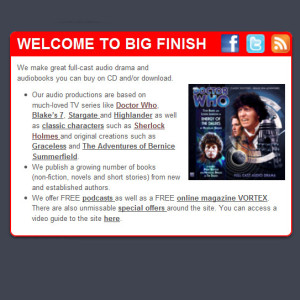The New Big Finish Website is Go!