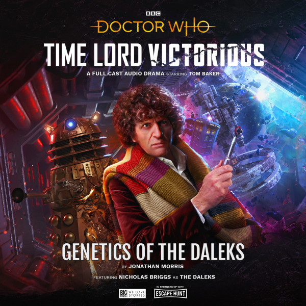 capa de Genetics of the Daleks com Tom Baker