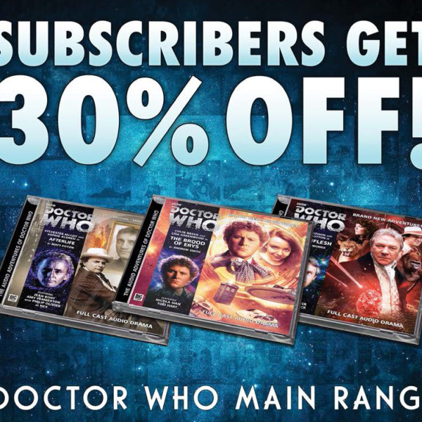 Doctor Who Main Range: Now 30% Off!