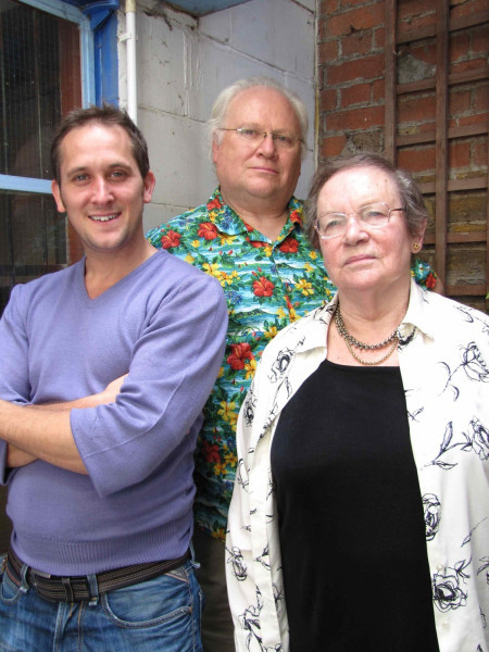 Colin Baker, John Pickard and Maggie Stables