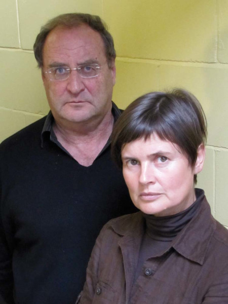 Nigel Lambert and Sophie Aldred