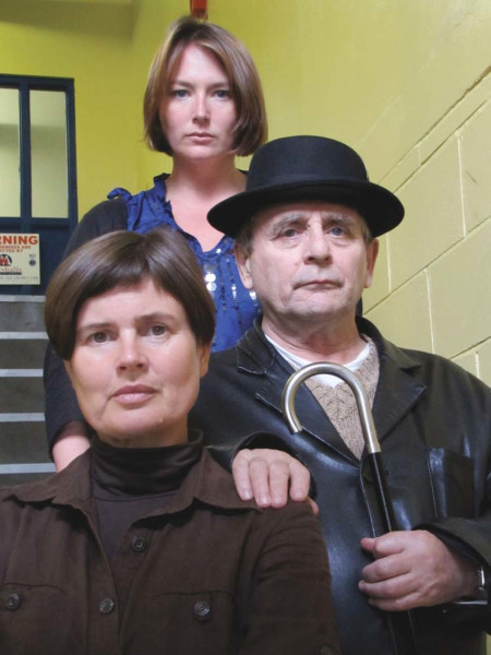 Sylvester McCoy, Sophie Aldred and Beth Chalmers