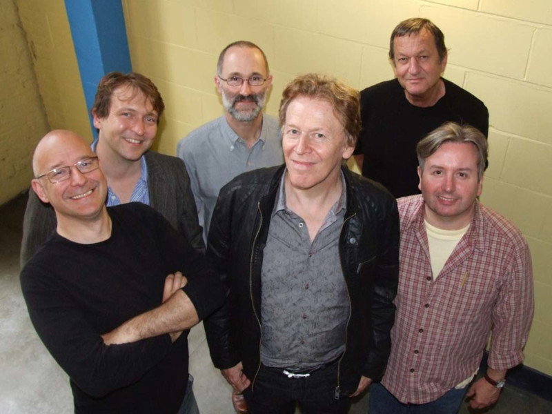Writer Pat Mills (centre) and some of the cast of The Song of Megaptera