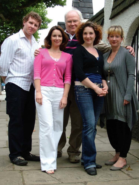 Richard Earl, Nicola Bryant, Colin Baker, Helen Goldwyn and Claire Wyatt