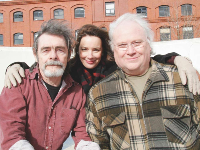 Colin Baker, Nicola Bryant and David Bailie