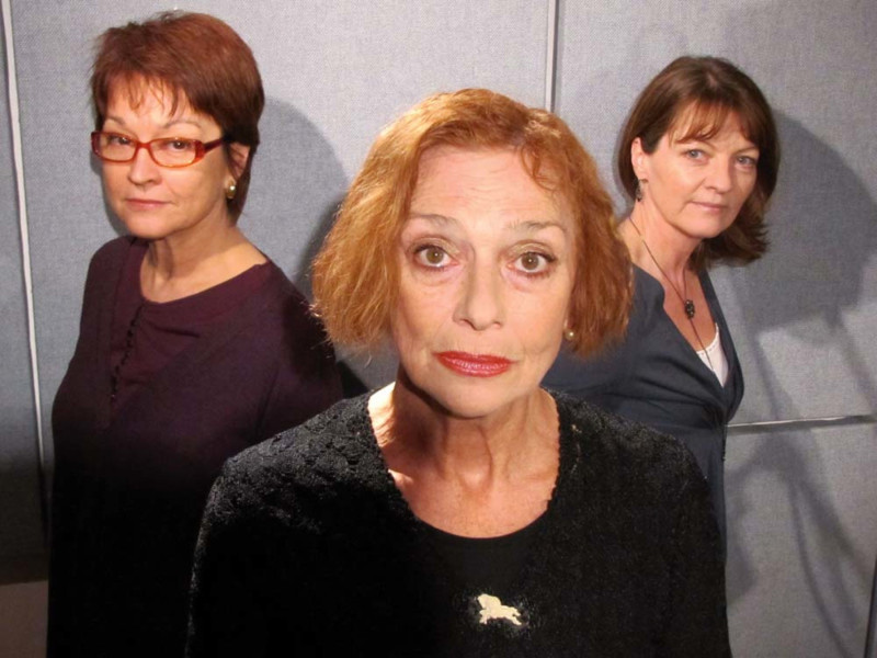 Janet Fielding, Jacqueline Pearce and Sarah Sutton