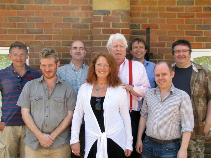 The cast and production team of Energy of the Daleks