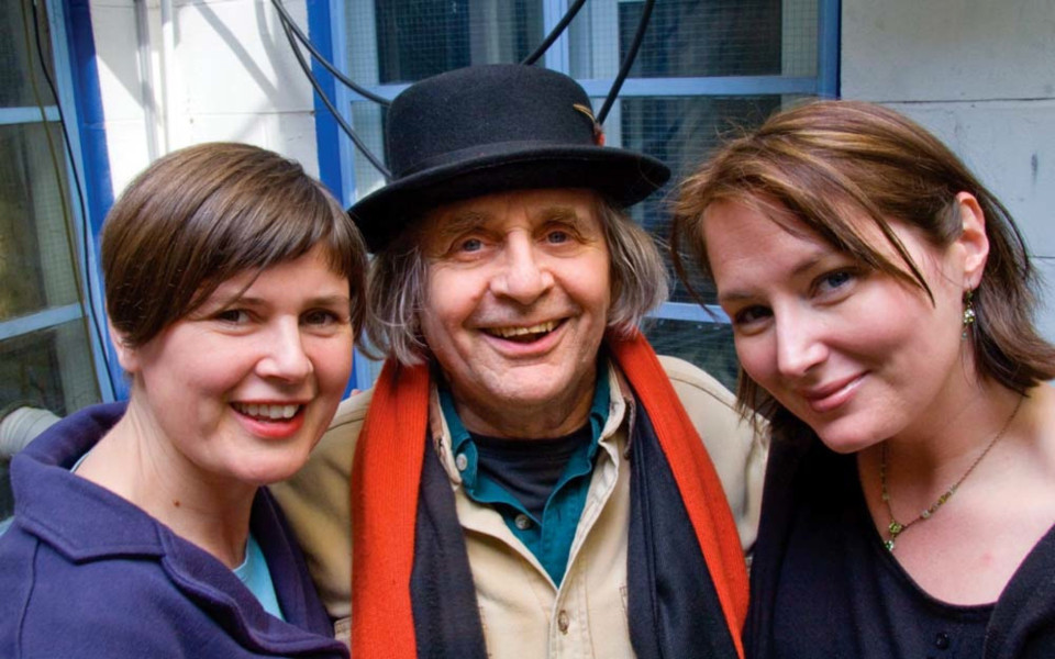 Sophie Aldred, Sylvester McCoy and Beth Chalmers