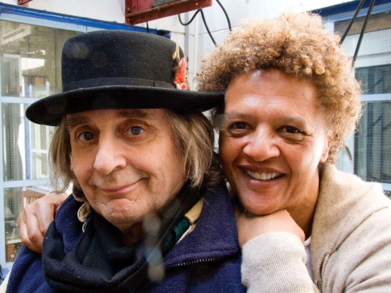 Sylvester McCoy and Angela Bruce
