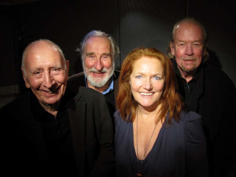 Trevor Baxter, Christopher Benjamin, Louise Jameson and Conrad Asquith