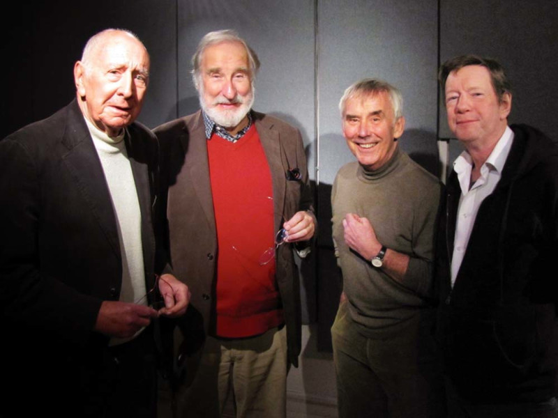 Trevor Baxter, Christopher Benjamin, Christopher Beeny and Mike Grady