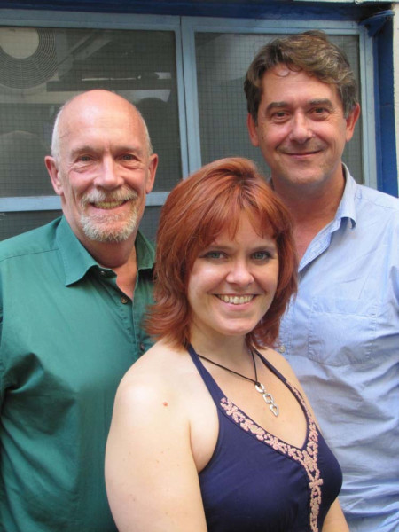 Hugh Ross, Lizzie Roper and Adrian Lukis