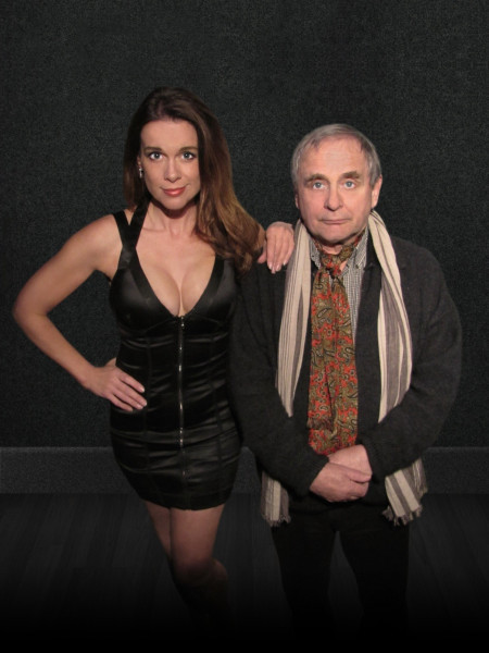 Chase Masterson and Sylvester McCoy