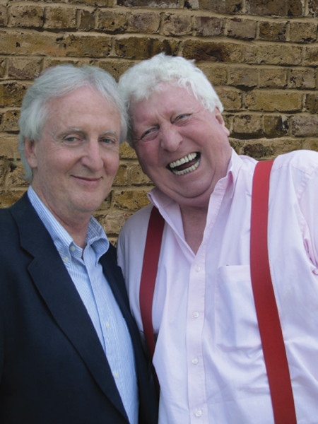 Hugh Fraser and Tom Baker