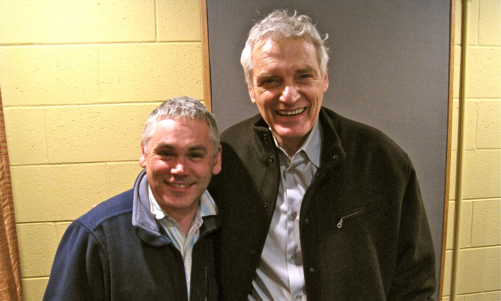 Matthew Waterhouse as John Cunningham and David Selby as Quentin Collins