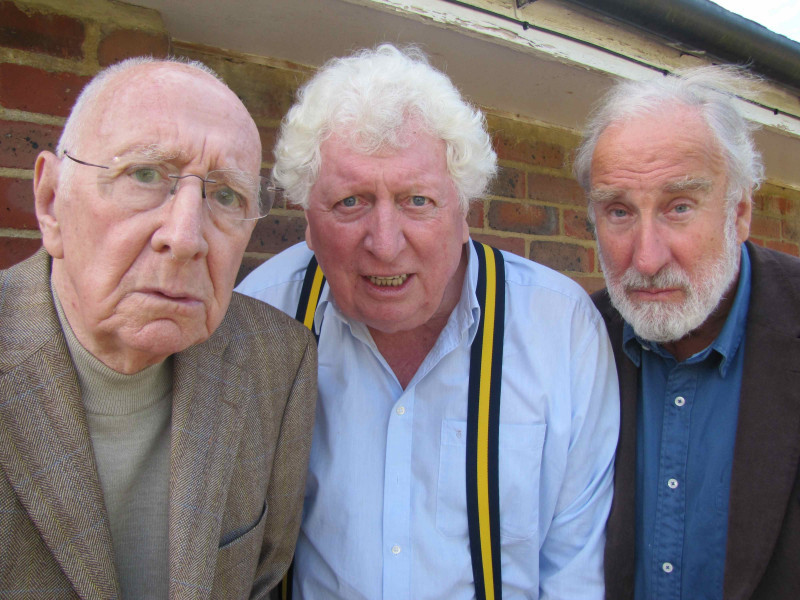 Tom Baker with Trevor Baxter and Christopher Benjamin