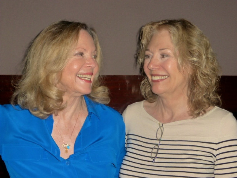 Lara Parker as Angelique Bouchard and Kathryn Leigh Scott as Maggie Evans
