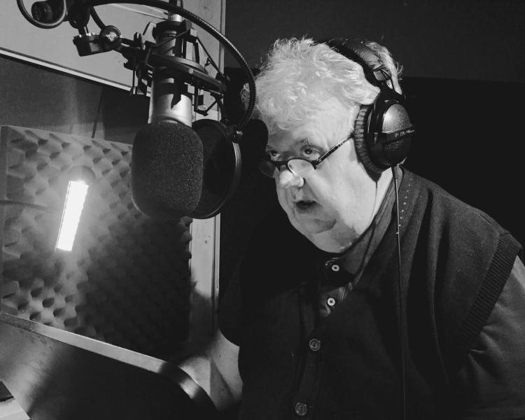 Ian McNeice as Winston Churchill on Day 1 of recording.