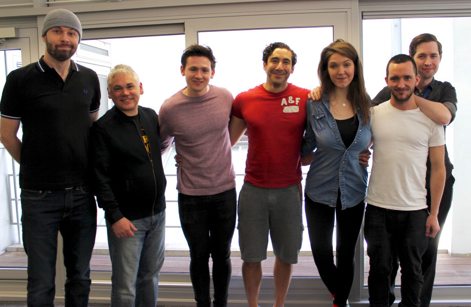 Roy Gill, Matthew Waterhouse, Scott Haran, Walles Hamonde, Alexandra Donnachie, Michael Shon and Daniel Collard