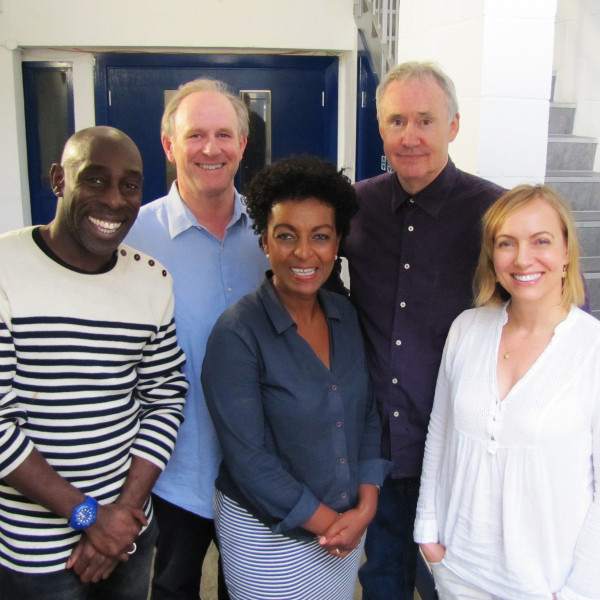 Andrew French, Peter Davison, Adjoa Andoh, Nigel Planer and Lisa Kay
