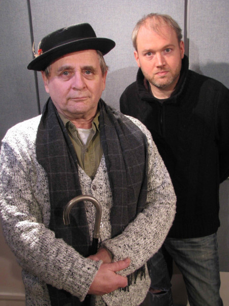Sylvester McCoy and Toby Hadoke