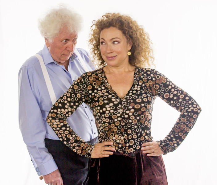 Tom Baker and Alex Kingston