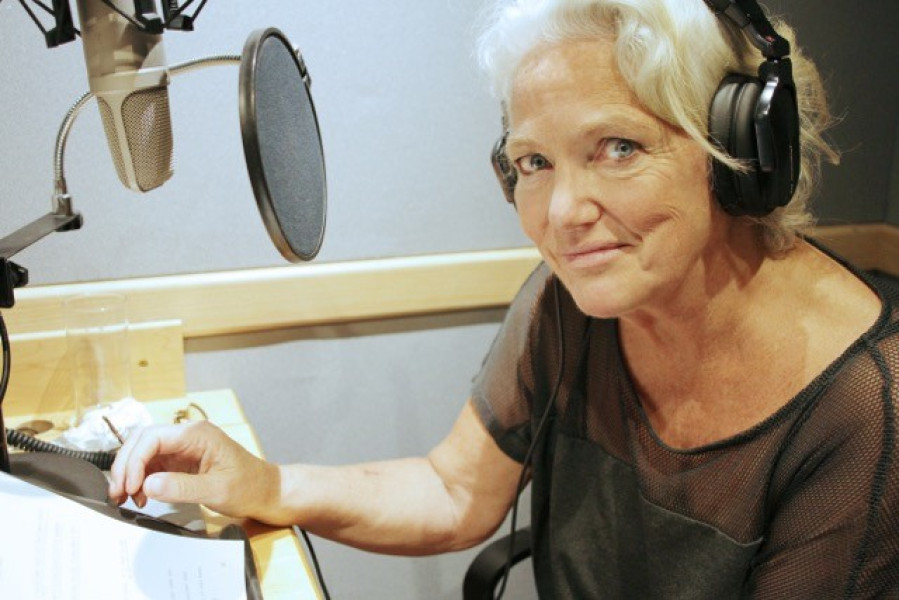 Louise Jameson at recording
