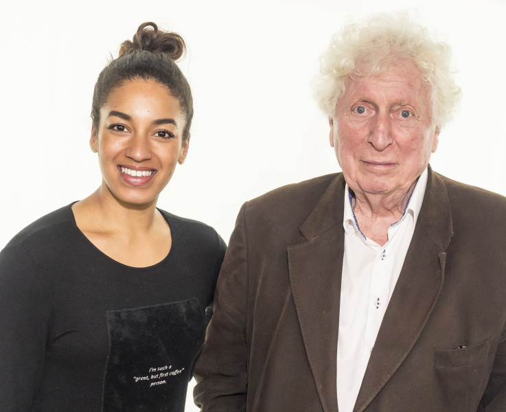 Rhianne Starbuck and Tom Baker