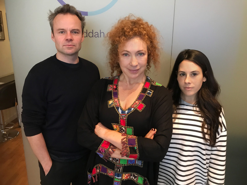 Alex Kingston, Jamie Glover and Claudia Grant