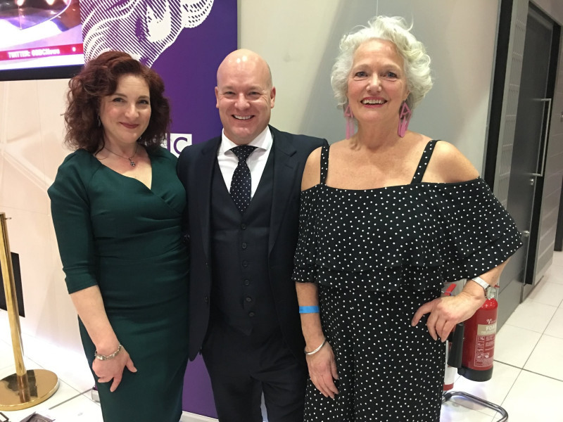Team ATA Girl and Jason Haigh-Ellery at the BBC Audio Drama Awards, where ATA Girl received a commendation