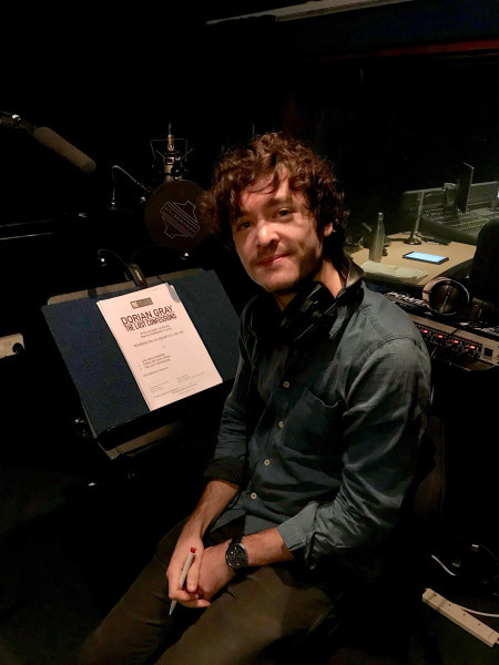 Dorian Gray himself, Alexander Vlahos at recording