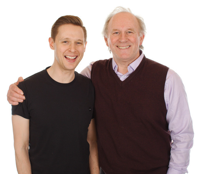 Peter Davison and Samuel Barnett