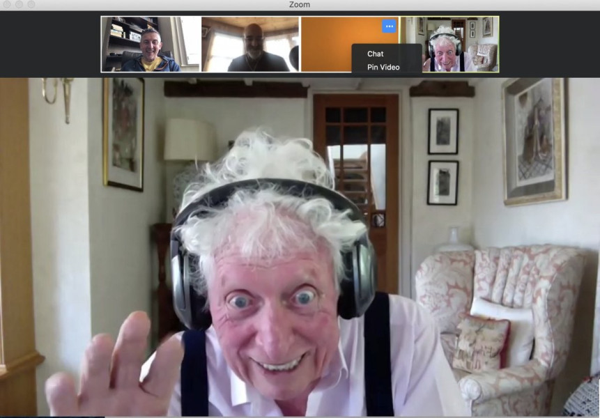 Tom Baker recording under lockdown