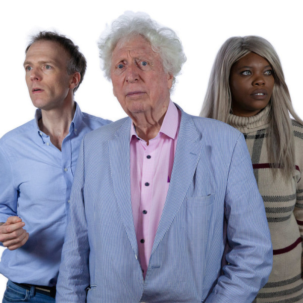 Christopher Naylor, Tom Baker and Eleanor Crooks