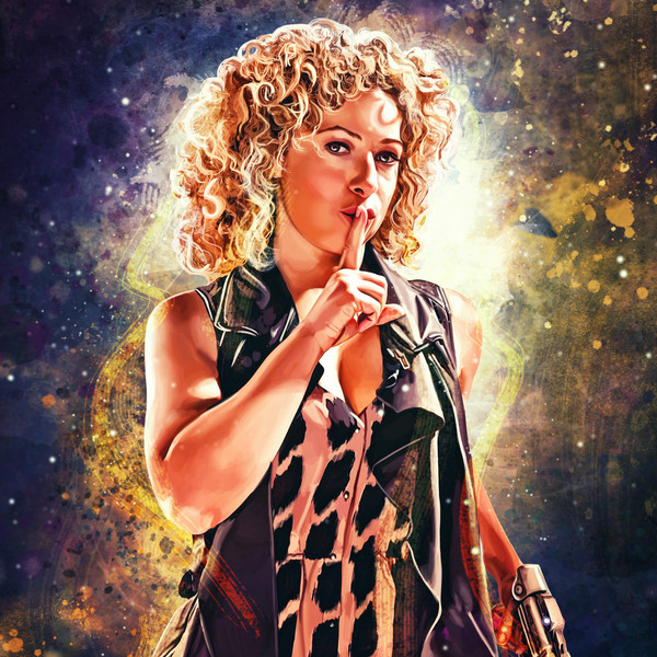 Professor River Song by artist Sophie Cowdrey