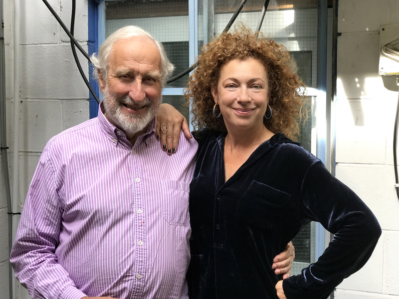 Christopher Benjamin and Alex Kingston