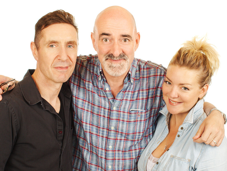 Paul McGann, Nicholas Briggs and Sheridan Smith
