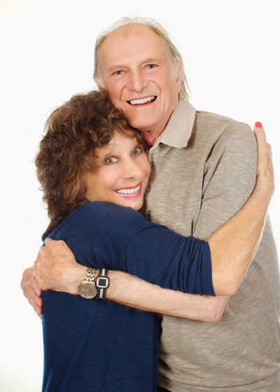 Carole Ann Ford and David Bradley in studio