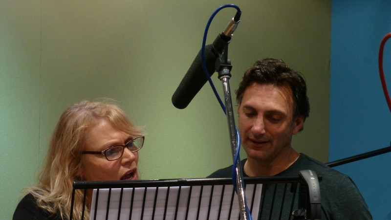 Daphne Ashbrook and Matthew Brenher in studio