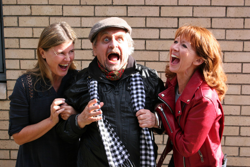 Sophie Aldred, Sylvester McCoy and Bonnie Langford recording Red Planets
